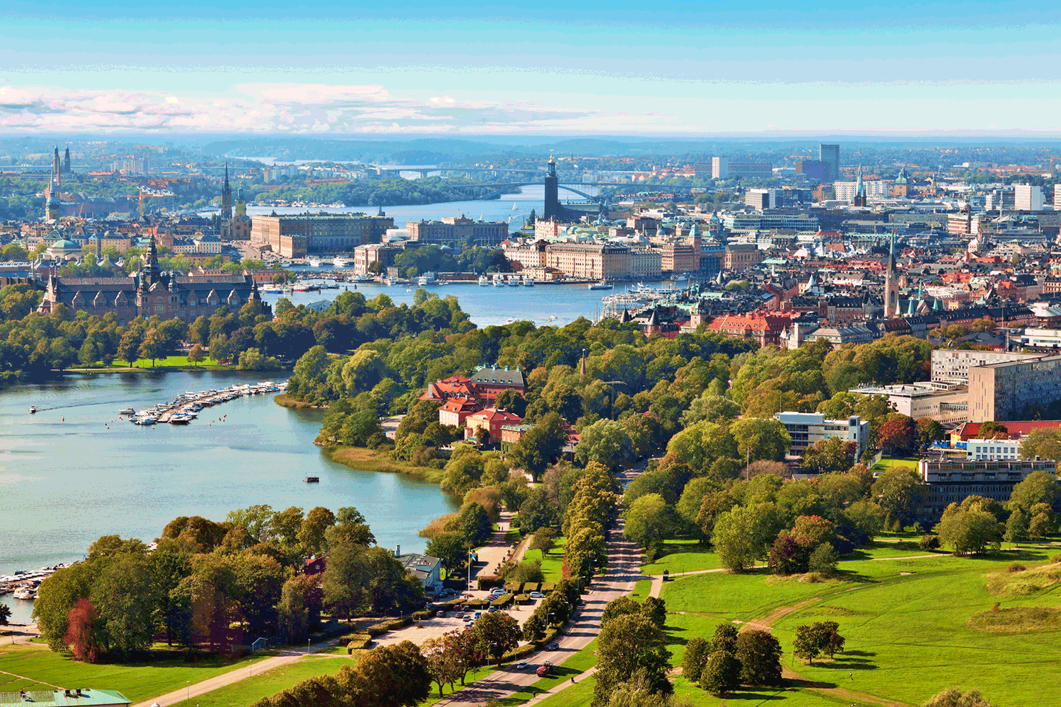 Scenic-Summer-Aerial-Panorama-Of-Stockholm-Sweden