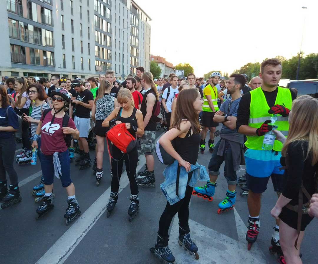 inline roller skating in Poland